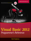 Visual Basic 2012 Programmer&#39;s Reference (eBook)